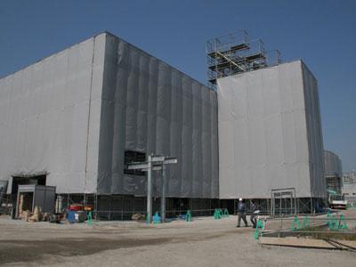 来春の開場へ向け建設が進む「愛知名港花き地方卸売市場」(仮称)