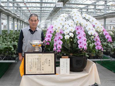 農林水産祭で天皇杯を受賞した松浦園芸・松浦進さん