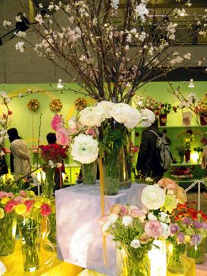 「フラワー&ガーデンショウ」でシンボルフラワーのラナンキュラス展示