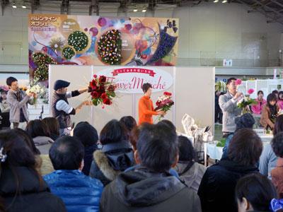 ステージで名花協「フラッピーカップ」熱戦