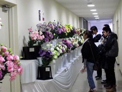 京都生花の展示会に全国の切花・鉢物が集合