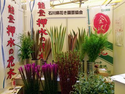 「なにわ花まつり」で石川県花き園芸協会の出展