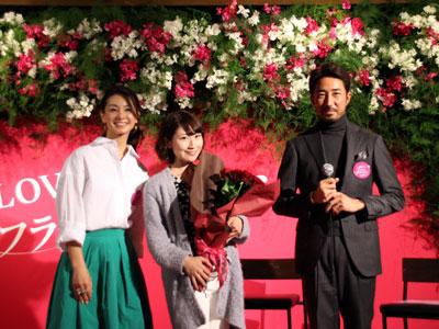 男性の花贈りを後押し、干場義雅氏(右)と稲沢朋子さん(左)のトークショー